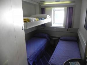 Sardinia Ferries cabina Cruise Class 3 letti Mega express 4