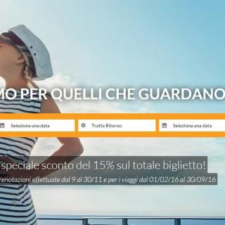 Grandi Navi Veloci GNV offerta 15%