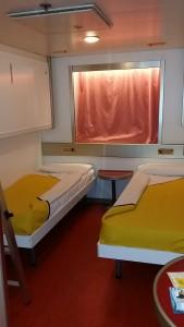Come dormire a bordo di un traghetto blog for Cabina di 300 piedi quadrati